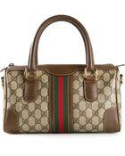 Gucci Vintage Monogram Webbed Bag - Lyst