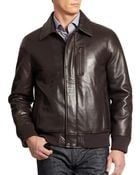 Andrew Marc Shearling  Leather Bomber Jacket - Lyst