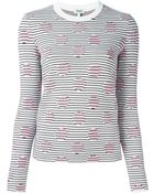 Kenzo Dots and Stripes Cotton-Blend Sweater - Lyst