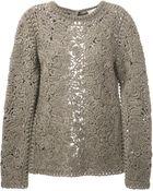 Stella McCartney Crochet Embroidered Sweater - Lyst
