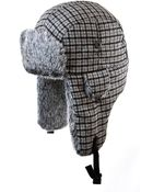 Crown Cap Houndstooth Faux Fur Aviator Hat - Lyst