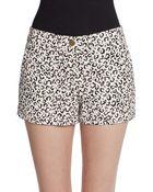Tibi Cheetah-Print Shorts - Lyst