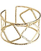Asos Cut Out Hammered Cuff Bracelet - Lyst
