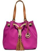 MICHAEL Michael Kors Marina Large Gathered Canvas Tote Bag - Lyst