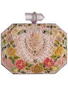 Marchesa Iris Floral Embroidered Box Clutch Bag - Lyst