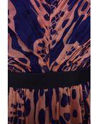Matthew Williamson Wing Lace Chiffon V-Neck Dress - Lyst