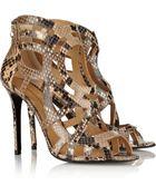 Nicholas Kirkwood Laser-Cut Python Sandals - Lyst