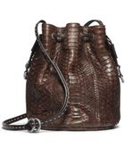 Michael Kors Julie Small Drawstring Python Crossbody - Lyst
