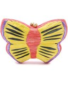 Serpui Marie Embroidered Butterfly Clutch - Multi - Lyst