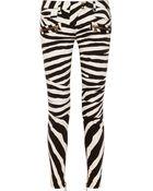 Balmain Zebra-Print Skinny Jeans - Lyst