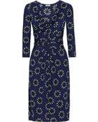 Issa Wrap-Effect Sunflower-Print Crepe-Jersey Dress - Lyst