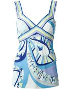 Emilio Pucci Abstract Print Tank Top - Lyst