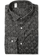 Ralph Lauren Black Label Floral-Print Cotton Shirt - For Men - Lyst