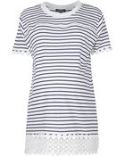 Topshop Maternity Stripe Lace Panel Tee - Lyst