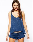 Wildfox Up All Night Cami Pj Set with Ruffle Short - Lyst