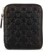 Comme Des Garçons Zip Around Embossed Leather Wallet - Lyst