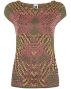 M Missoni Jacquard Optical Illusion Top - Lyst