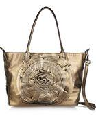 Valentino Rosette-Embellished Metallic Leather Shoulder Bag - Lyst