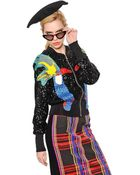 Tsumori Chisato Sequined & Embroidered Knit Jacket - Lyst