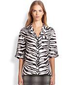 Emanuel Ungaro Silk Zebra Print Top - Lyst