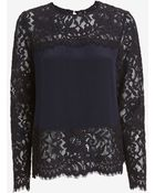 Exclusive For Intermix Florence Lace Panel Blouse - Lyst