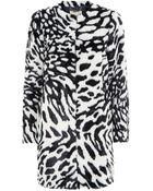 MICHAEL Michael Kors Animal Print Faux Fur Coat - Lyst