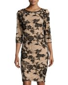 Chetta B Floral-Design Lace Cocktail Dress - Lyst
