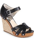 MICHAEL Michael Kors Somerly Espadrille Wedges - Lyst