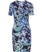 Peter Pilotto For Target Floral-Print Cotton-Blend Jersey Mini Dress - Lyst