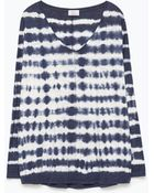 Zara Faded Striped T-Shirt - Lyst