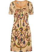 Moschino Cheap & Chic Embellished Crepe Mini Dress - Lyst