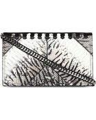 Roberto Cavalli Pythonembossed Clutch Natural Black - Lyst