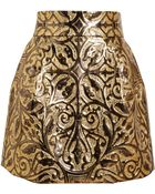 Dolce & Gabbana Metallic Embossed Brocade Skirt - Lyst
