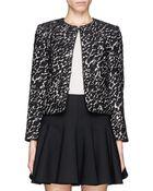 Alice + Olivia 'Kidman' Lurex Tweed Box Jacket - Lyst
