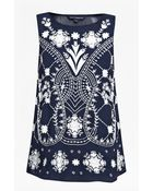 French Connection Kiko Stitch Vest Top - Lyst