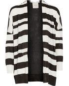 Mason by Michelle Mason Striped Cashmere And Silk Crepe De Chine Cardigan - Lyst