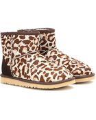 Ugg Classic Mini Calf Hair Boots - Lyst