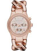 Michael Kors Ladies Runway Twist Chronograph Watch - Lyst