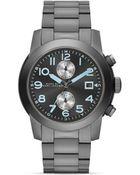 Marc By Marc Jacobs Larry Gunmetal Watch 46mm - Lyst