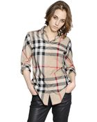 Burberry Brit Checked Cotton Poplin Shirt - Lyst
