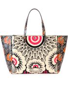 Valentino Covered Mixed Floral-Print Tote Bag - Lyst