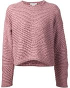 Helmut Lang Chunky Knit Sweater - Lyst