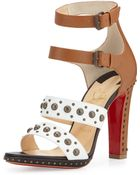 Christian Louboutin Decodame Studded Red Sole Sandal - Lyst