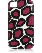 Diane von Furstenberg Stone Leopard Printed Iphone 4 Case - Lyst