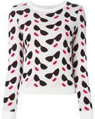Alice + Olivia 'Smiley Stace' Intarsia Sweater - Lyst