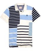 Brooks Brothers Color-Block Pieced Polo Shirt - Lyst