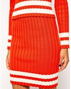 Asos Co-Ord Knitted Skirt With Blocked Stripes - Lyst