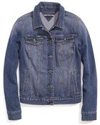 Tommy Hilfiger Classic Light Wash Denim Jacket - Lyst