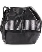 BCBGeneration Faux Leather Illusion-Detail Bucket Bag - Lyst