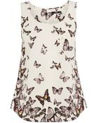 Oasis Butterfly Print Border Vest - Lyst